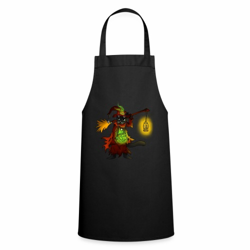 Halloween Black Witch Cat - Cooking Apron