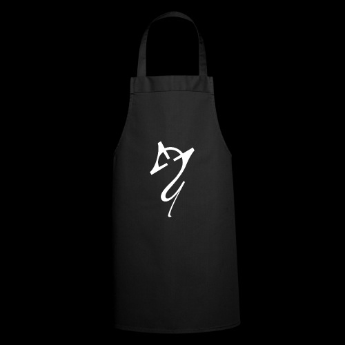 Overscoped logo White - Cooking Apron