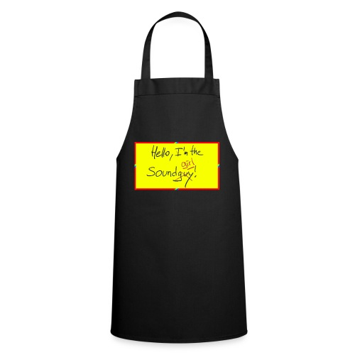 hello, I am the sound girl - yellow sign - Cooking Apron