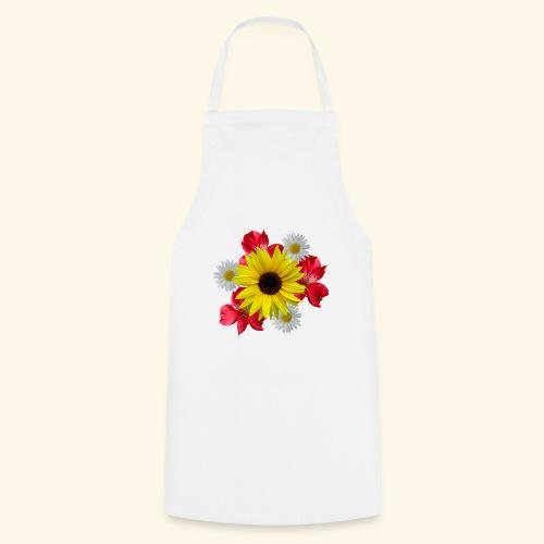 Blumenstrauß, Sonnenblume, Margeriten, rote Blumen - Kochschürze