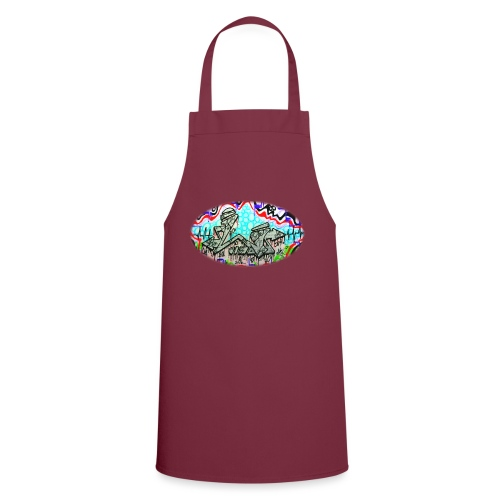 Across the Tracks Blur - Cooking Apron