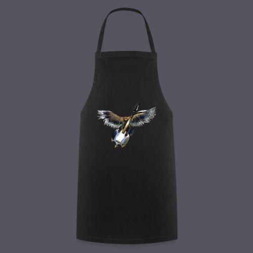 Greifvogel mitGitarrenbeute - Kochschürze
