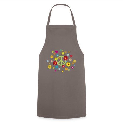 Peacezeichen Blumen Herz flower power Valentinstag - Cooking Apron