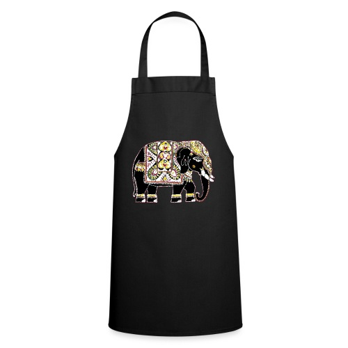 Indian elephant for luck - Cooking Apron