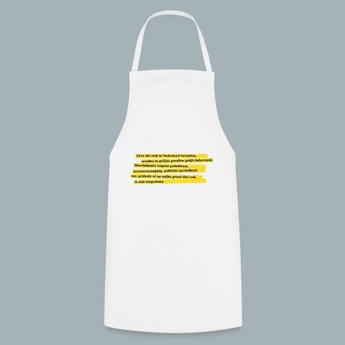 Nederlandse Grondwet T-Shirt - Artikel 1 - Keukenschort