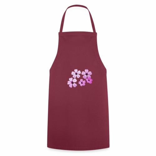 Blumen violett - Kochschürze