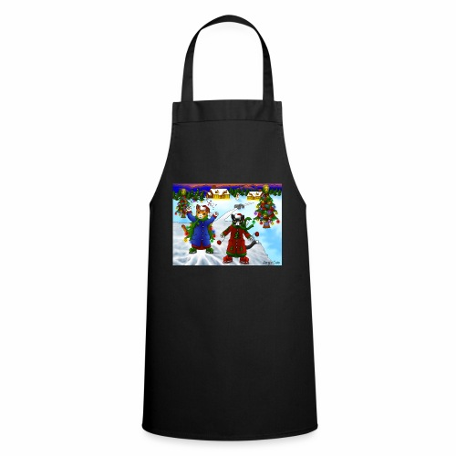 Christmas Ice Skating Cats - Cooking Apron