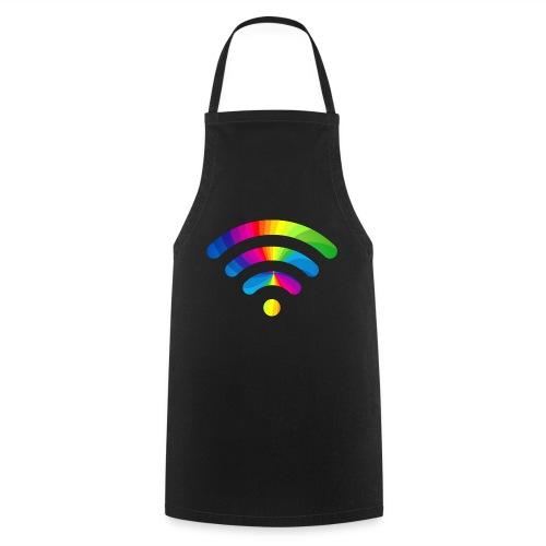 wifi signal rainbow - Keukenschort