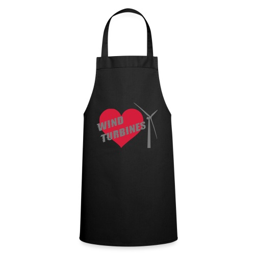 wind turbine grey - Cooking Apron
