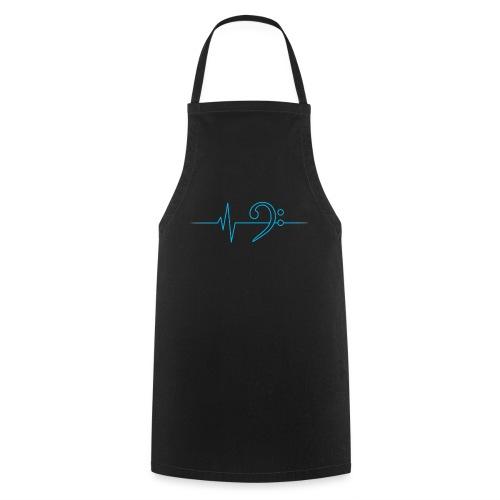 LowHeartBeat cyan - Kochschürze