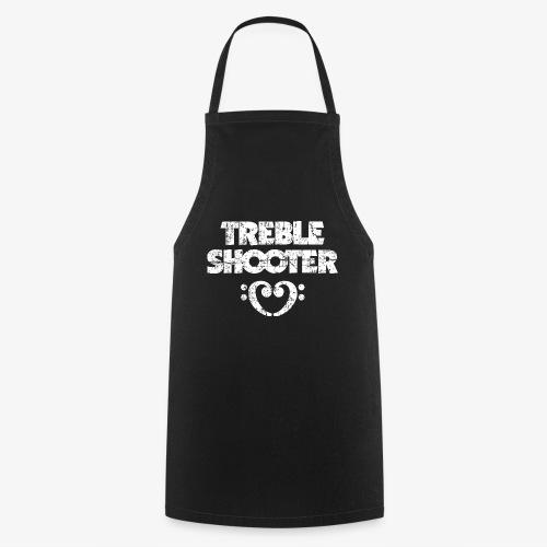 Treble Shooter Bass mit Herz (Vintage/Weiß) - Kochschürze