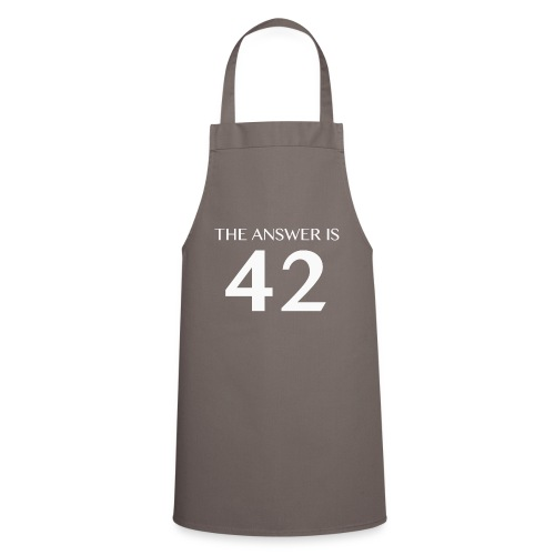 The Answer is 42 White - Cooking Apron