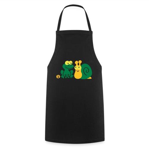 Frosch und Schnecke (c2) Freundschaft - Kochschürze