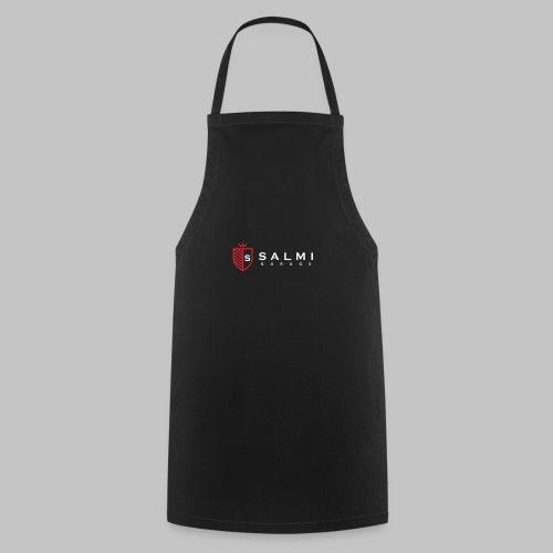 Salmi Garage Logo (Valkoinen Vaaka) - Esiliina