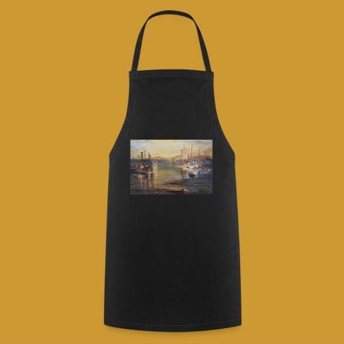 White Fishing - Mark Noble Art - Cooking Apron