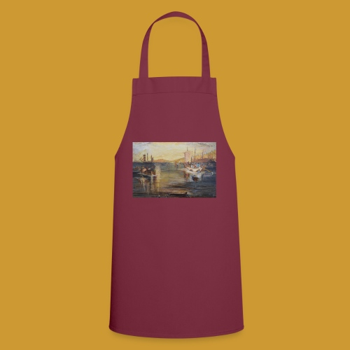 White Fishing - Mark Noble Art - Cooking Apron