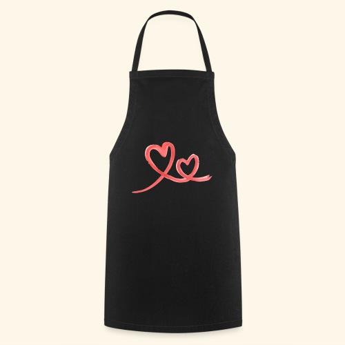 Duo Cœur Main levée - Saint Valentin - Tablier de cuisine