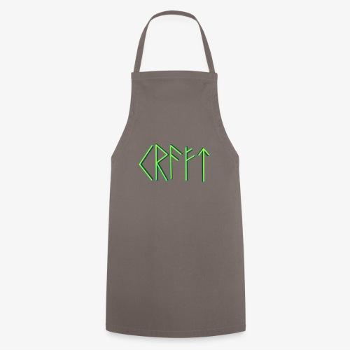 Kraft in Runenschrift - Kochschürze