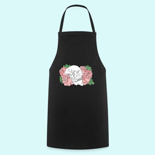 skull et fleurs - Tablier de cuisine
