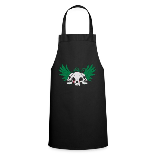 skull and wings - Cooking Apron