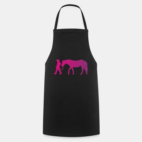 Mädchen führt Pferd, Horsemanship - Kochschürze