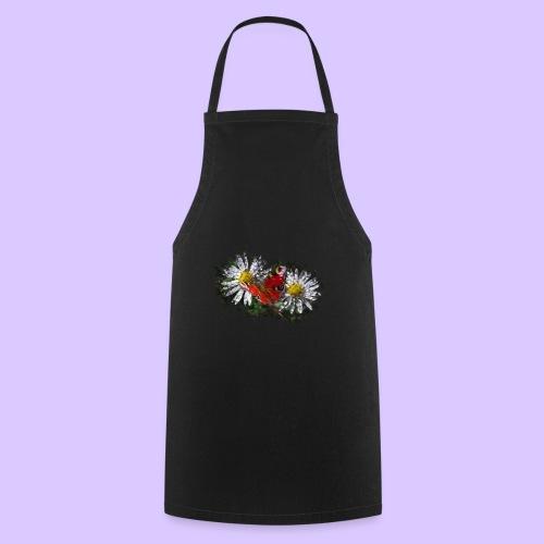 zwei Gänseblümchen mit einem Schmetterling - Kochschürze