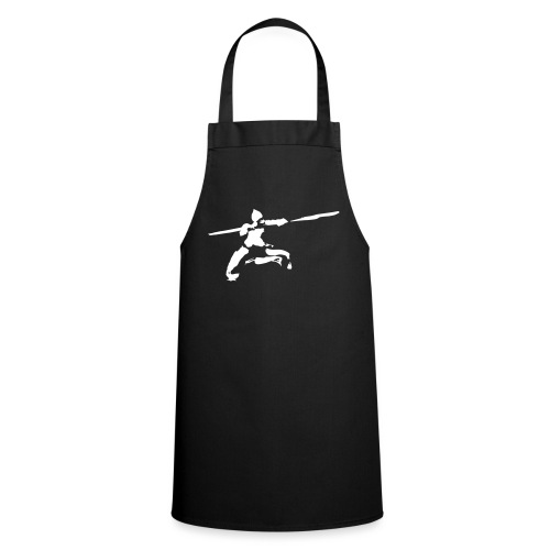 Kungfu stick fighter / ink - Cooking Apron