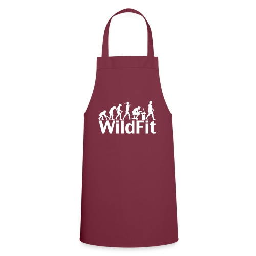 WildFit Logo Evolution Weiß - Kochschürze