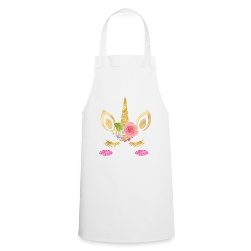 unicorn face - Kochschürze