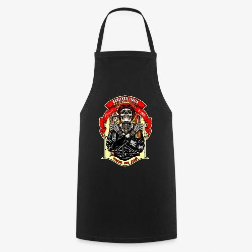Teschio con casco, birra e chiave inglese - Grembiule da cucina