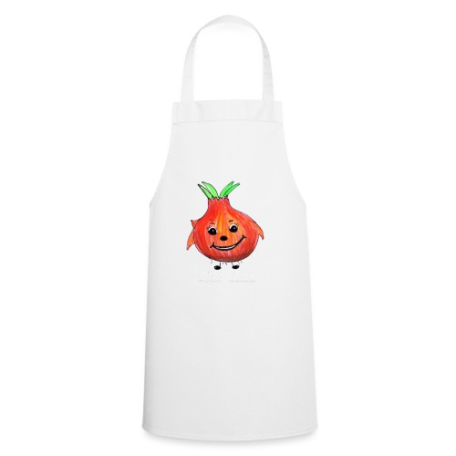 mens black T-shirt Ollie the Onion - Cooking Apron