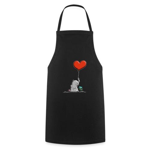 Éléphant, coeur rouge, der Elefant - Tablier de cuisine