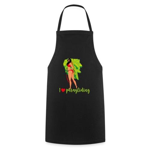 Frau mit Gleitschirm - Kochschürze