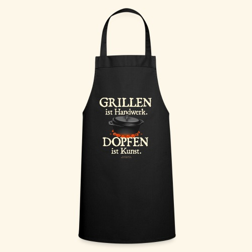 Dutch Oven T-Shirt Grillen Handwerk Dopfen Kunst - Kochschürze