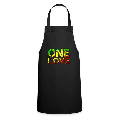 One Love - Reggea Musik - Kochschürze