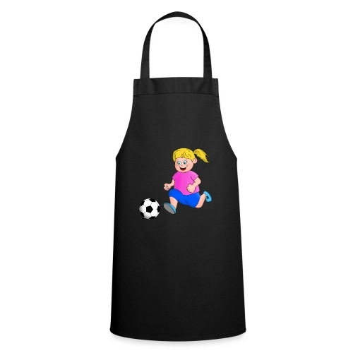 Fußball Mädchen - Kochschürze