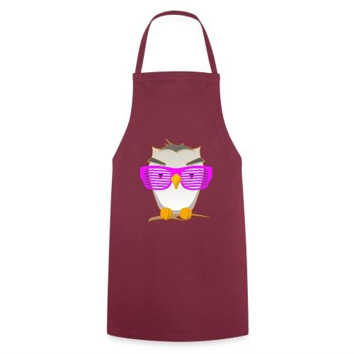 Eule Wald Vogel coole Nerdbrille Geek Big Bang Uhu - Cooking Apron