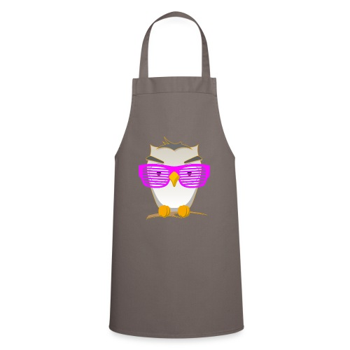 Eule Wald Vogel coole Nerdbrille Geek Big Bang Uhu - Cooking Apron