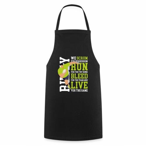 MarPlo Scrum Run Live whiteGreen - Grembiule da cucina