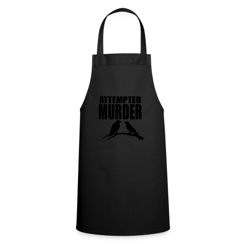 Attempted Murder crow - Cooking Apron