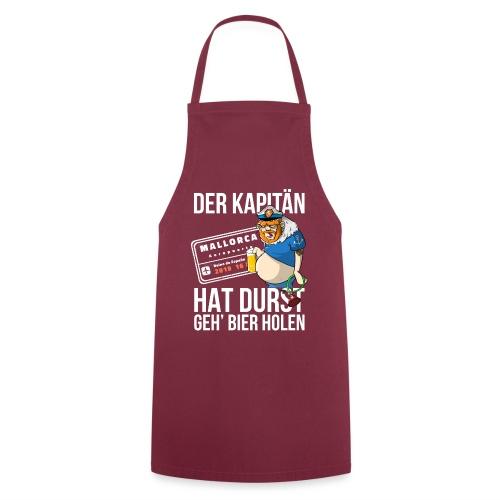 Bier T-shirt Der Kapitän hat Durst - Mallorca 2019 - Kochschürze