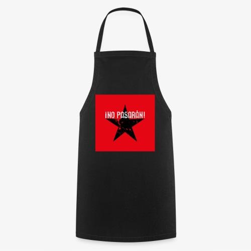 02 No Pasaran Stern Maske Mundschutz rot schwarz - Kochschürze