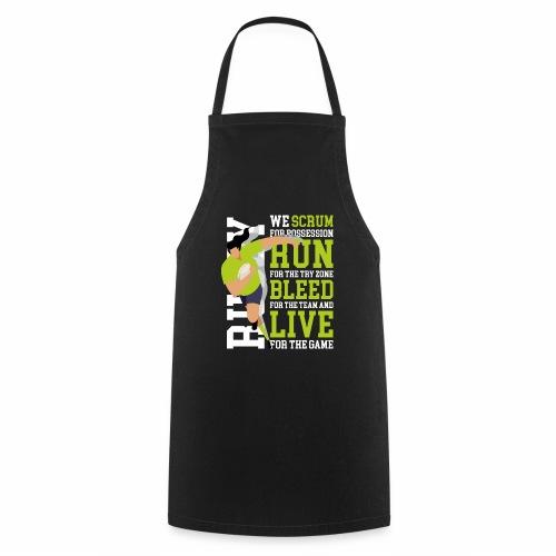 MarPlo Scrum Run Live whiteGreen W - Grembiule da cucina