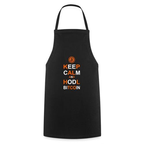 Keep Calm and Hodl Bitcoin - Kochschürze