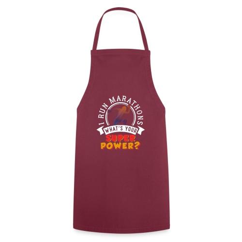 Running Marathons Super Power - Kochschürze