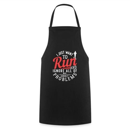 I Just Want To Run   Marathon - Kochschürze