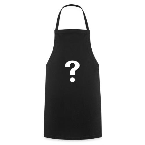 Fragezeichen - brillantes Shirt - Kochschürze