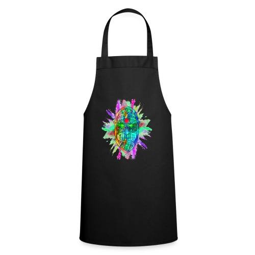 Watercolour Tiki Mask - Cooking Apron