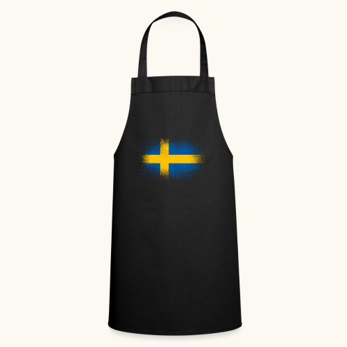 Suède cadeau drôle de drapeau suédois - Tablier de cuisine