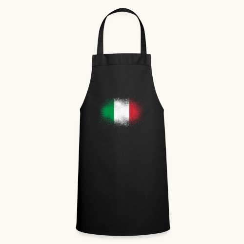 Italie cadeau drôle de drapeau italien grunge - Tablier de cuisine